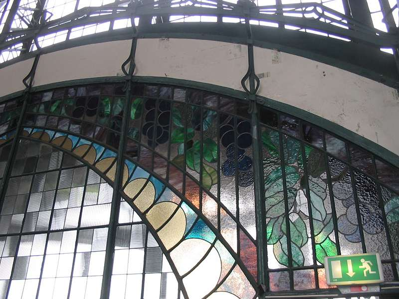 Bunte Fensterscheiben der Zeche Zollern, Schacht II/IV; Foto: 01.09.2006, Dortmund