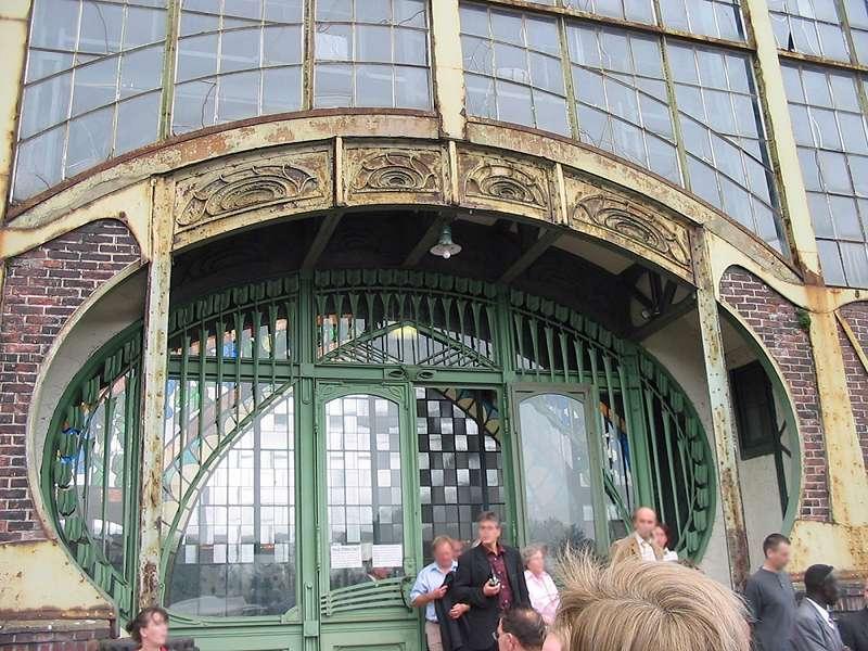 Eingang der Maschinenhalle der Zeche Zollern, Schacht II/IV; Foto: 01.09.2006, Dortmund