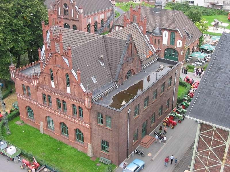 Das Gelände der Zeche Zollern von oben betrachtet; Foto: 01.09.2006, Dortmund