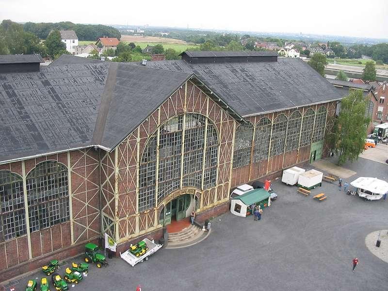 Die Maschinenhalle der Zeche Zollern von oben betrachtet; Foto: 01.09.2006, Dortmund