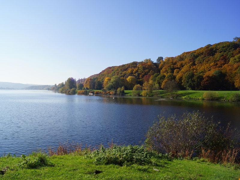 Bunter Herbst am Nordufer des Kemnader Sees; Foto: 27.10.2015, Bochum-Querenburg