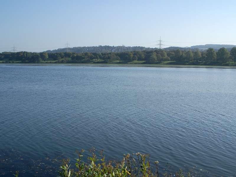 Blick über den Kemnader See nach Witten; Foto: 15.10.2007, Bochum-Stiepel