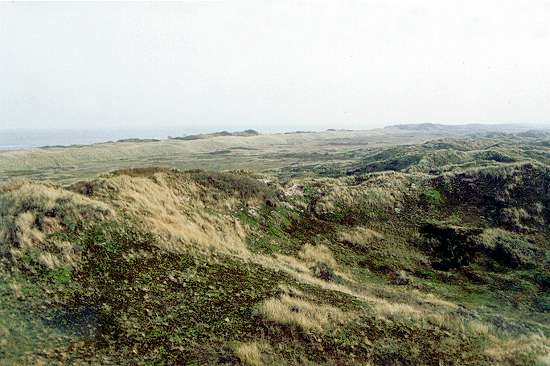 So war die Aussicht an der einstigen Seenotrettungsstation auf Langeoog; Foto: September 2001, Langeoog