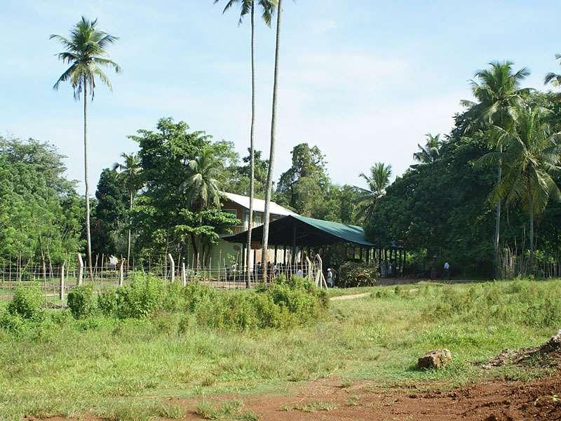 Eingangsbereich des Elefantenwaisenhauses; Foto: 09.11.2006, Kegalla