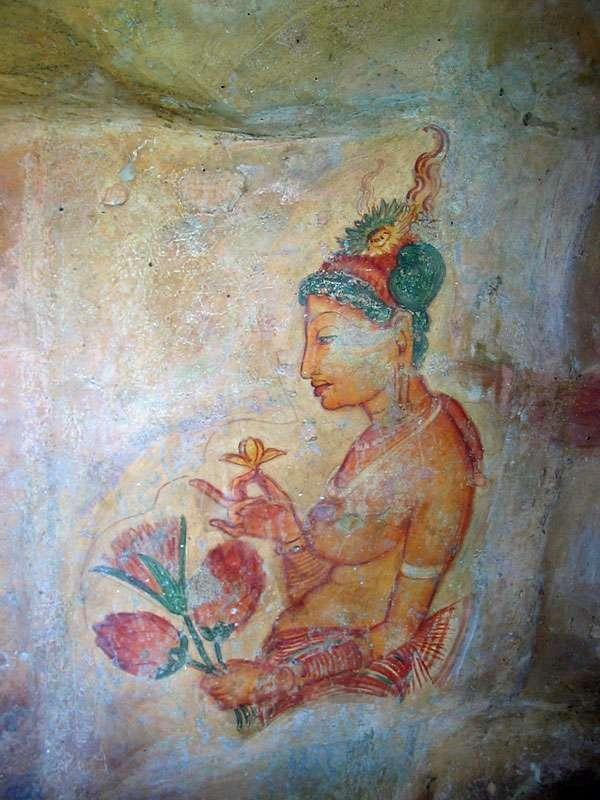Ein Wolkenmädchen im Profil; Foto: 10.11.2006, Sigiriya