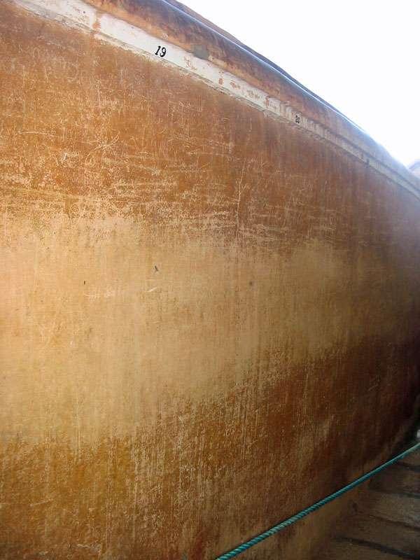 Die Spiegelmauer von Sigiriya; Foto: 10.11.2006, Sigiriya