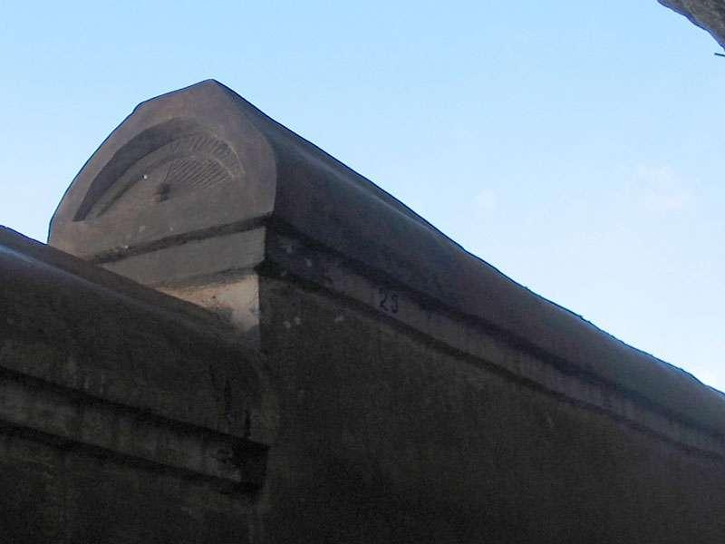 Oberer Bereich der Spiegelmauer; Foto: 10.11.2006, Sigiriya