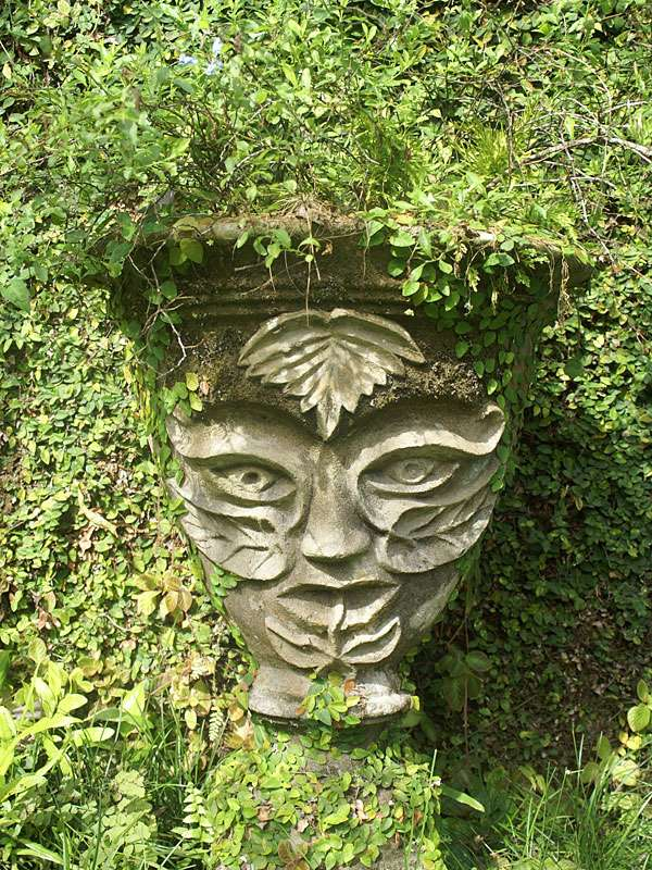 Pflanzenkübel im Brief Garden; Foto: November 2006, Kalawila