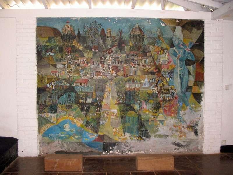 Kunstwerk des australischen Malers Donald Friend im Haus auf dem Anwesen Brief Garden; Foto: November 2006, Kalawila