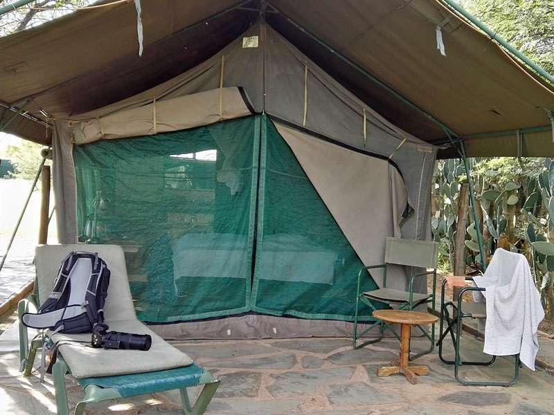 Dieses Hauszelt war während meines Urlaubs mein Reich; Foto: 22.03.2017, Kuzikus Wildlife Reserve