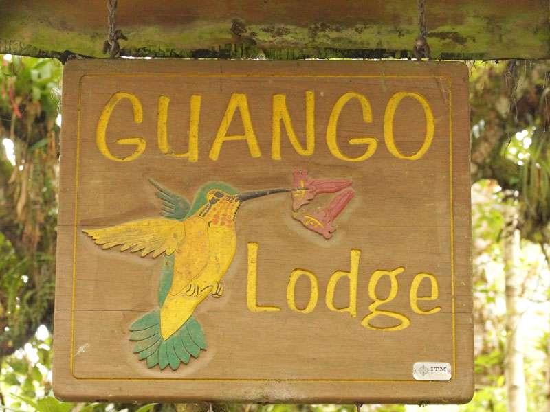 Schild der Guango Lodge; Foto: 07.12.2017, Nähe Papallacta