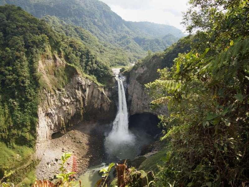 Der San-Rafael-Wasserfall; Foto: 09.12.2017