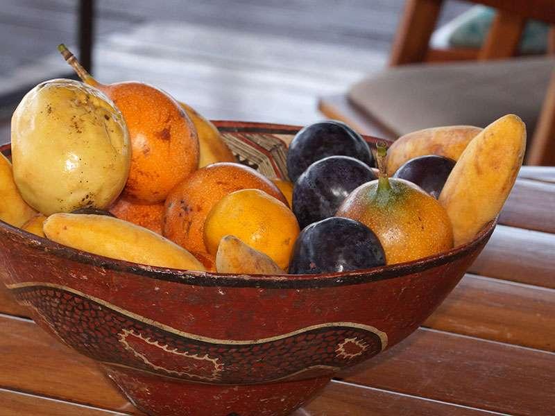 In der Sacha Lodge wird viel frisches Obst angeboten, das man aus Europa teils nicht kennt; Foto: 18.12.2017