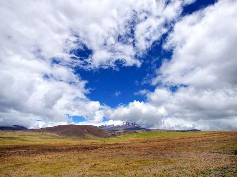 Der Antisana hüllt sich häufig in Wolken; Foto: 24.12.2017, Reserva Ecológica Antisana