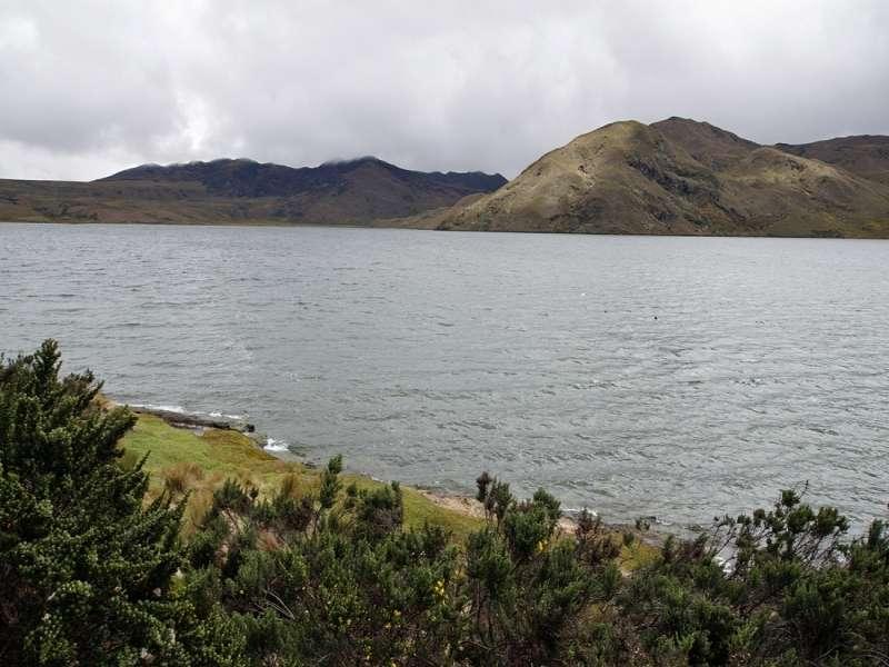 Blick auf die Laguna de la Mica; Foto: 24.12.2017, Reserva Ecológica Antisana