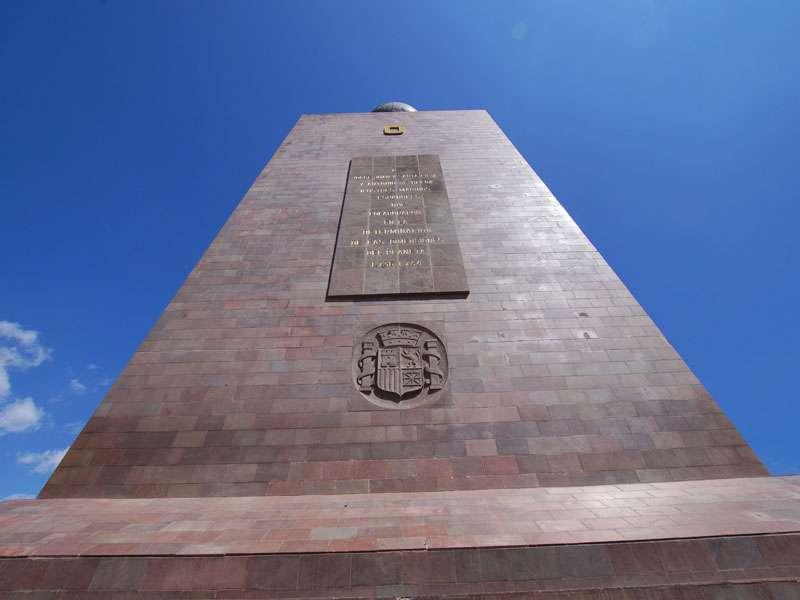 Am Fuße des Äquatordenkmals 'La Mitad del Mundo'; Foto: 23.12.2017, San Antonio de Pichincha