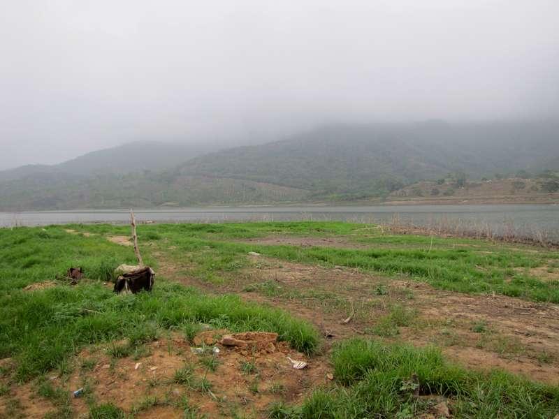 Landschaft am südwestlichen Ufer des Stausees 'Embalse El Peñon'; Foto: 18.04.2013, Nähe Canoabo